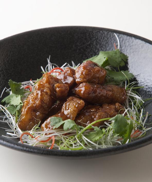 黄河黒酢炒め